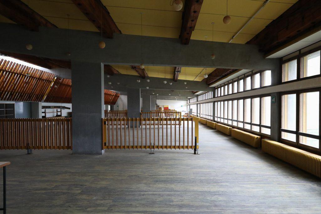 sala refettorio della colonia del Villaggio Eni di Borca di Cadore