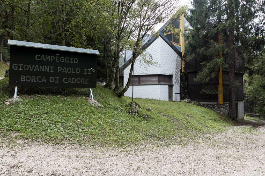 il campeggio del Villaggio Eni di Borca di Cadore
