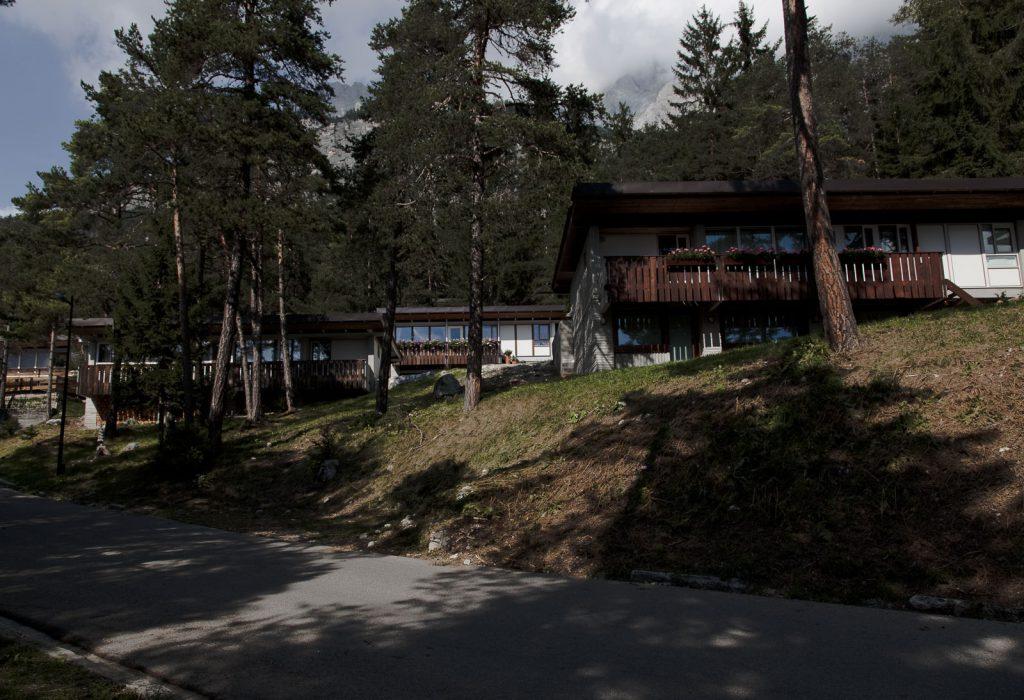 villette interno del Villaggio Eni di Borca di Cadore