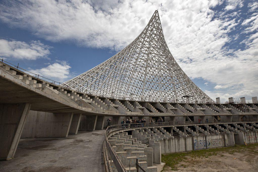 Caratteristica forma a pinna della vela di Calatrava a Roma