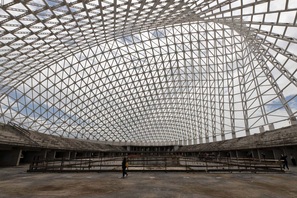 Vela di Calatrava vista dall'interno