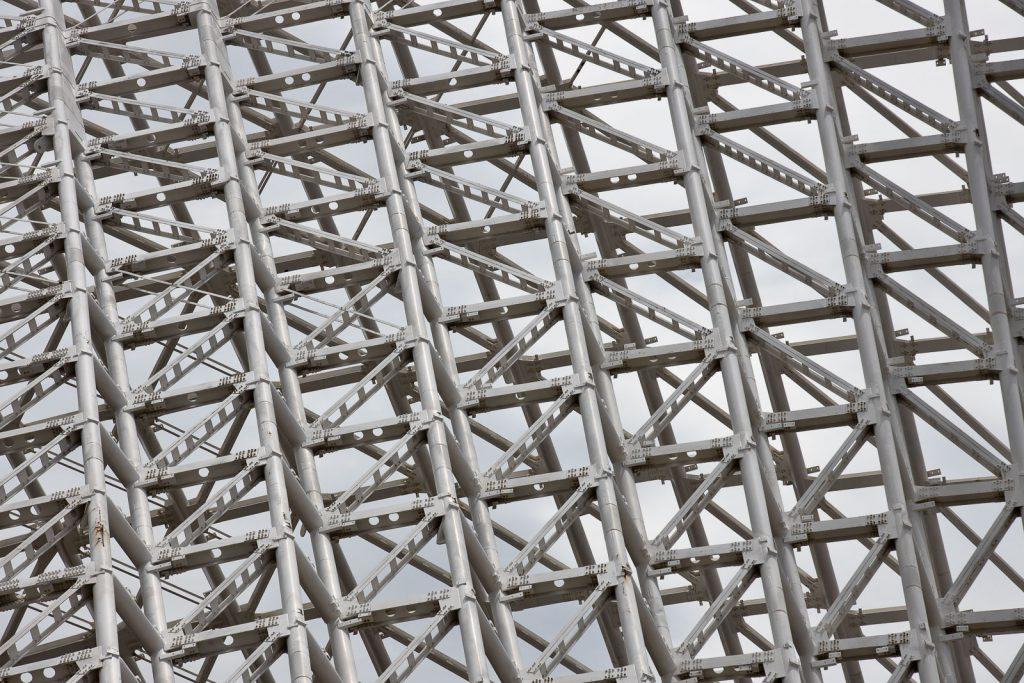Dettaglio della struttura reticolare della vela