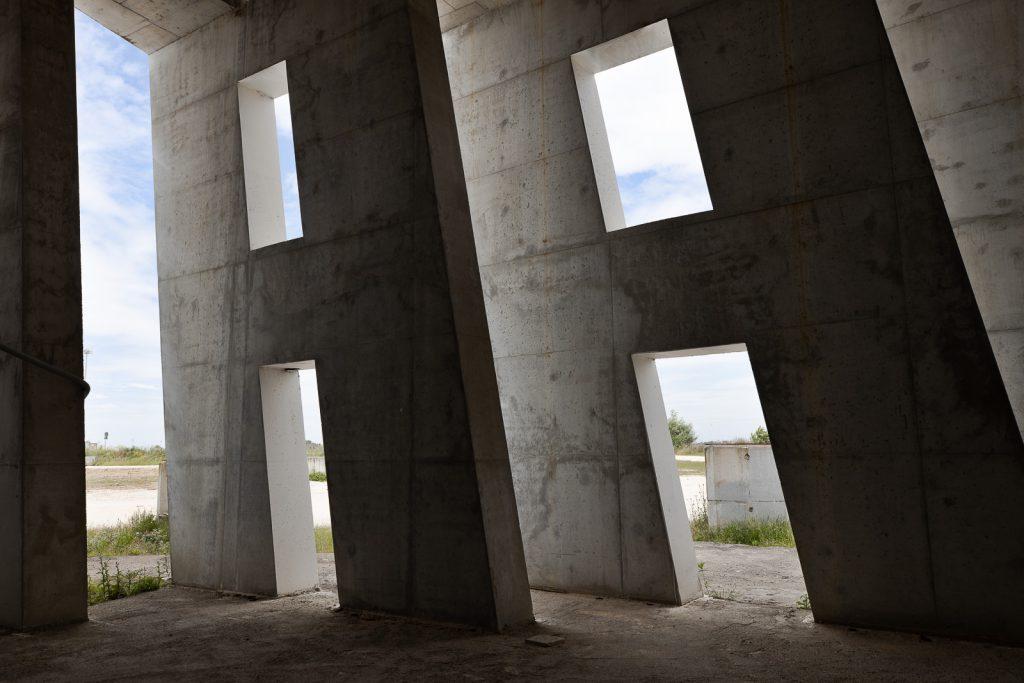 dettagli nell'infrastruttura della vela di Calatrava