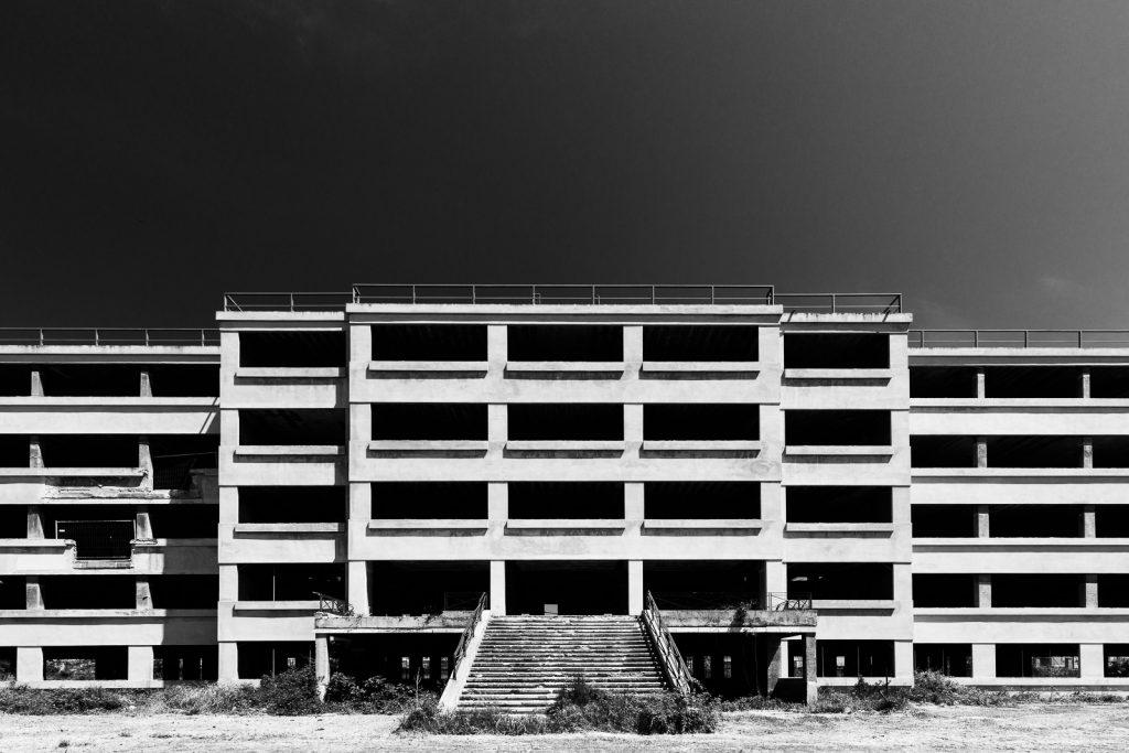 Colonia Novarese - Miramare (RN) | Dettaglio corpo centrale nel prospetto di ponente © 2016